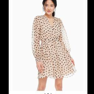 Kate Spade New York ♠️ Heartbeat Silk Mini Dress 2